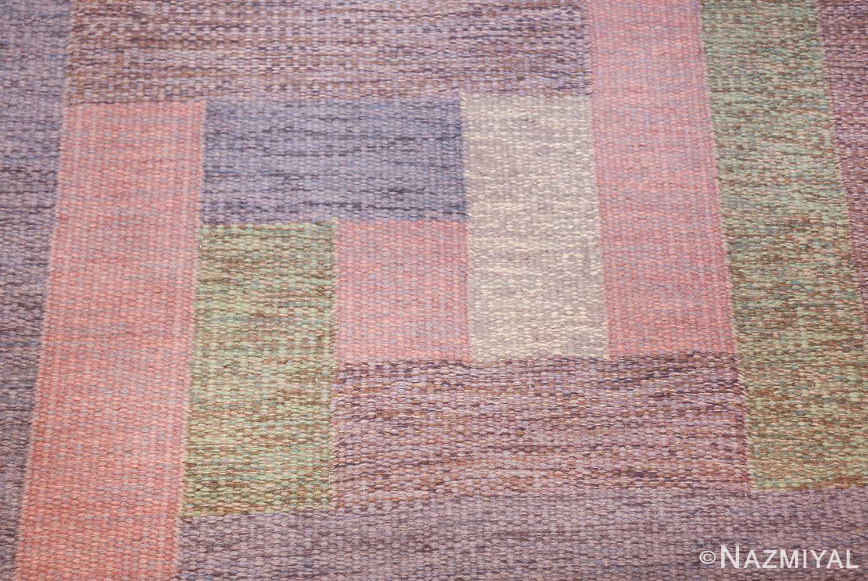 vintage geometric signed nn swedish scandinavian rug 49584 shapes Nazmiyal