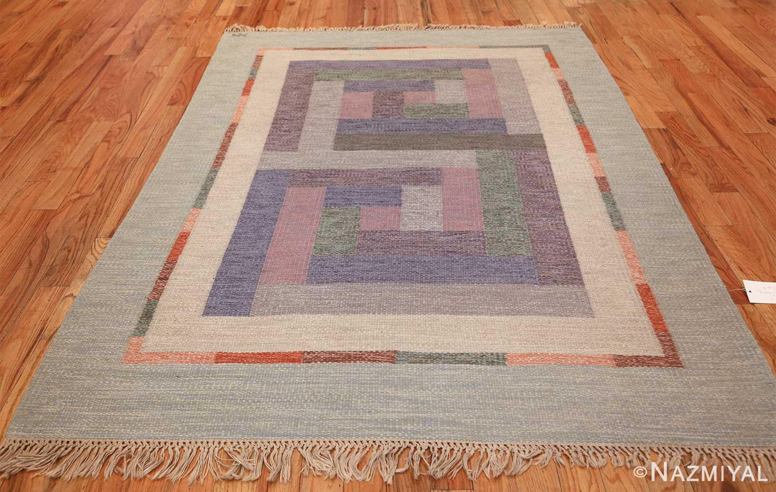 vintage geometric signed nn swedish scandinavian rug 49584 whole Nazmiyal