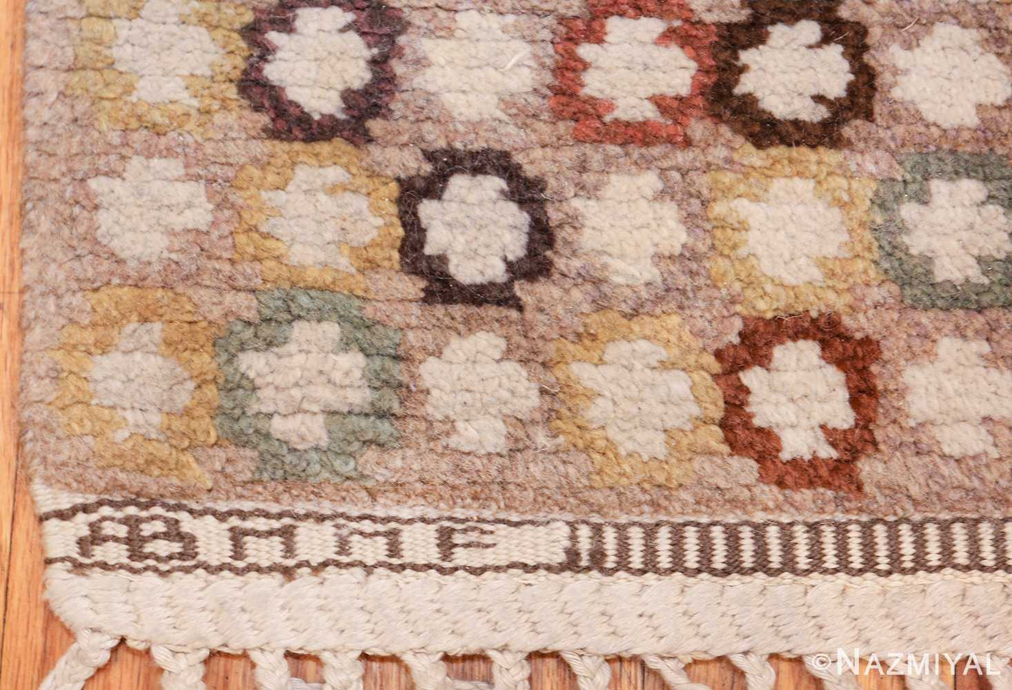 vintage marta maas scandinavian rug by barbro nilsson 49564 mmf Nazmiyal