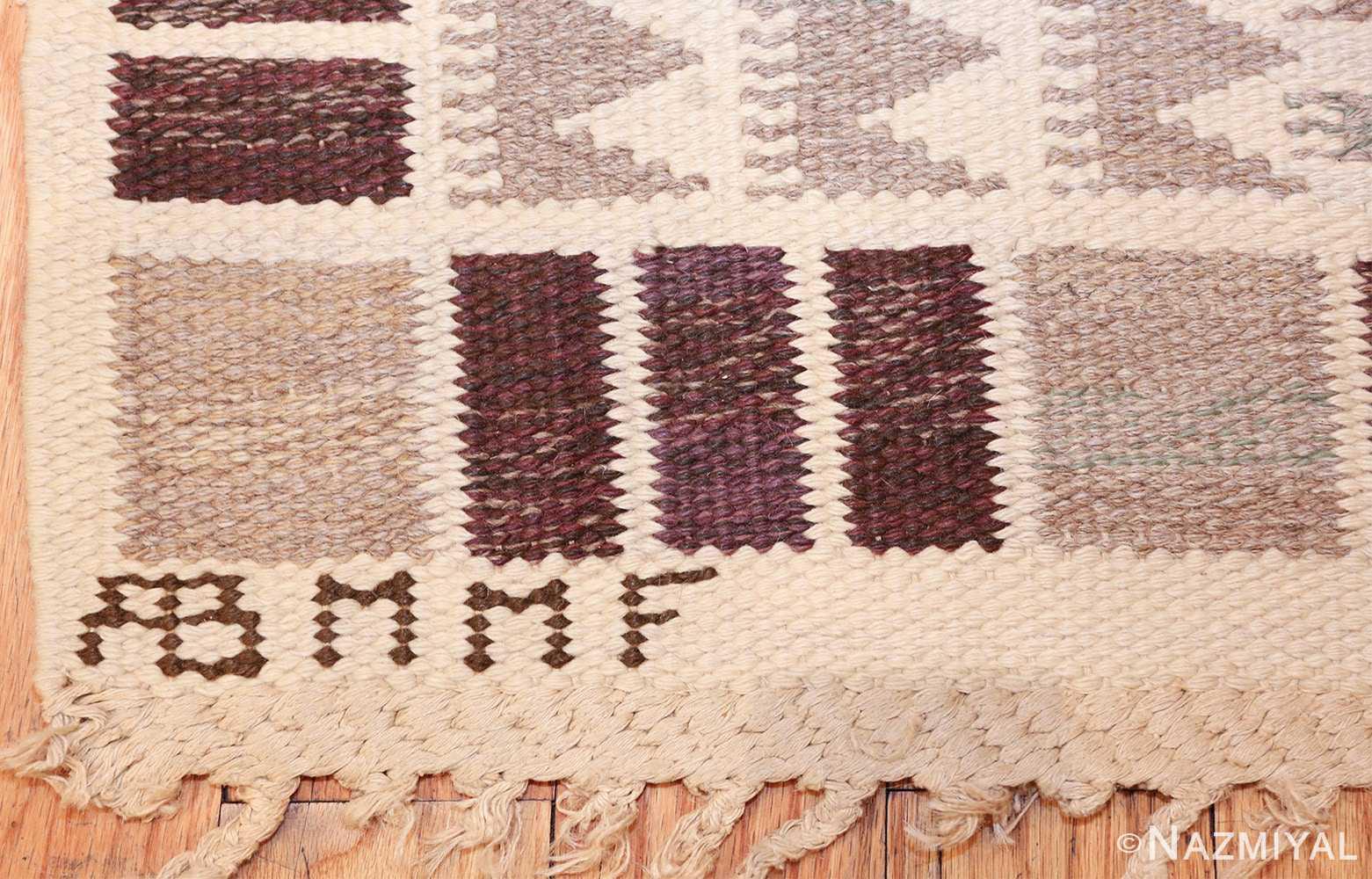 vintage marta maas scandinavian rug by barbro nilsson 49571 mmf Nazmiyal