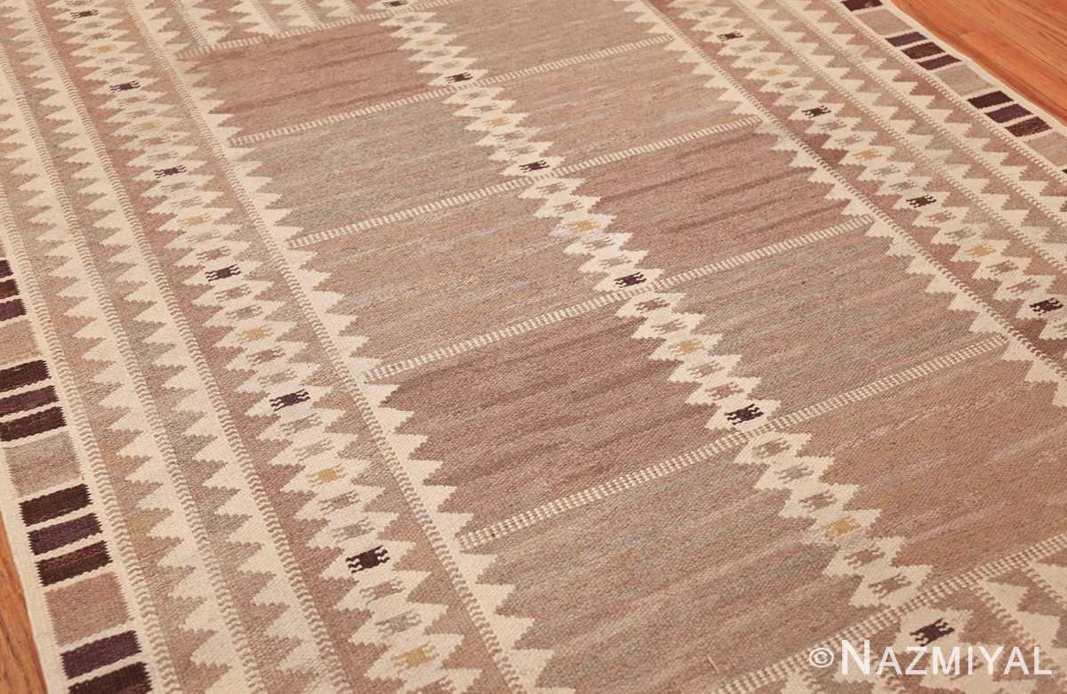 vintage marta maas scandinavian rug by barbro nilsson 49571 side Nazmiyal