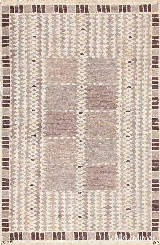 Vintage Marta Maas Scandinavian Salerno Rug by Barbro Nilsson 49571 by Nazmiyal