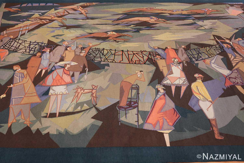 vintage pinton freres gynning french tapestry 49574 field Nazmiyal
