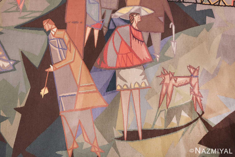 vintage pinton freres gynning french tapestry 49574 lady Nazmiyal