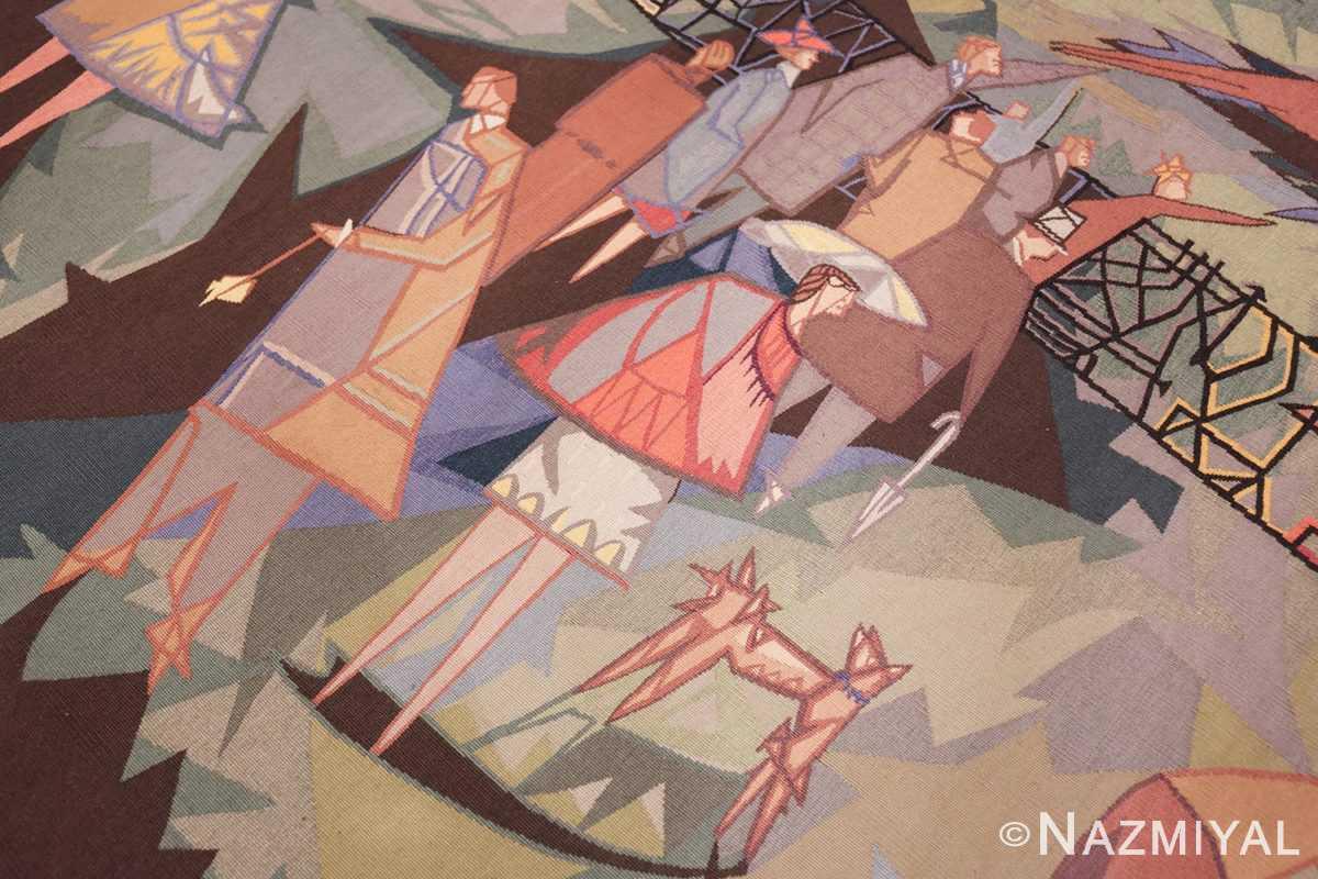 vintage pinton freres gynning french tapestry 49574 people Nazmiyal