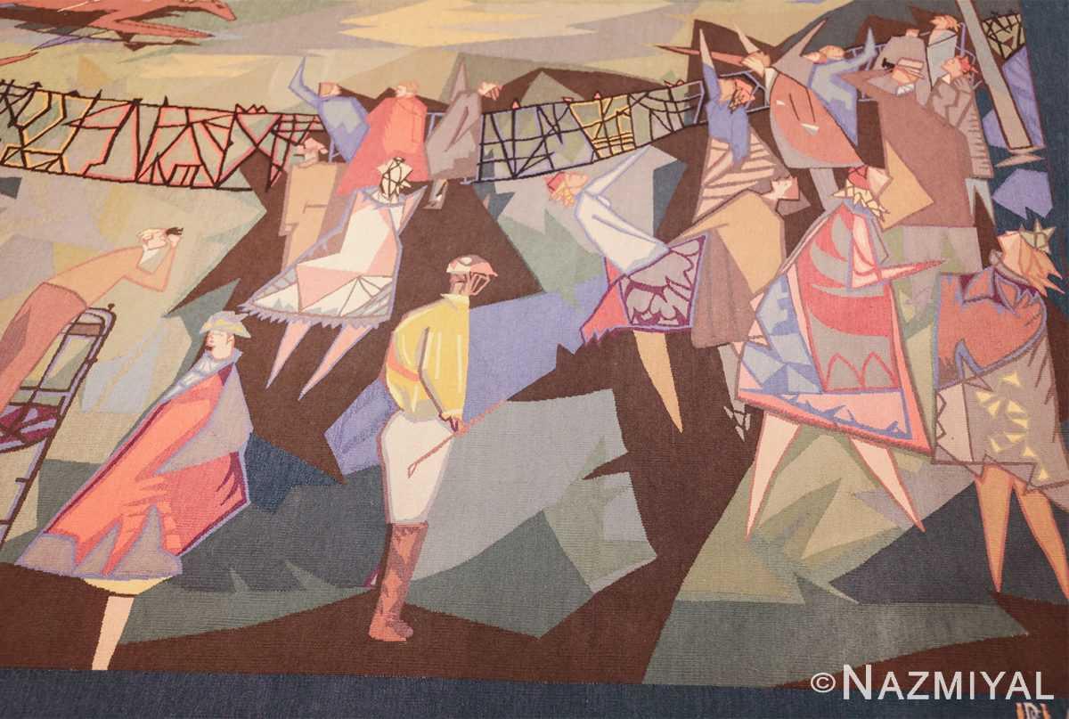 vintage pinton freres gynning french tapestry 49574 rider Nazmiyal