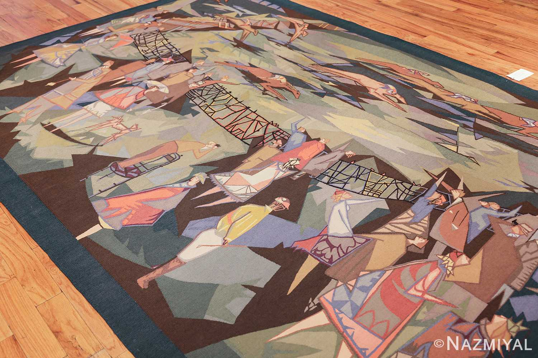vintage pinton freres gynning french tapestry 49574 side Nazmiyal