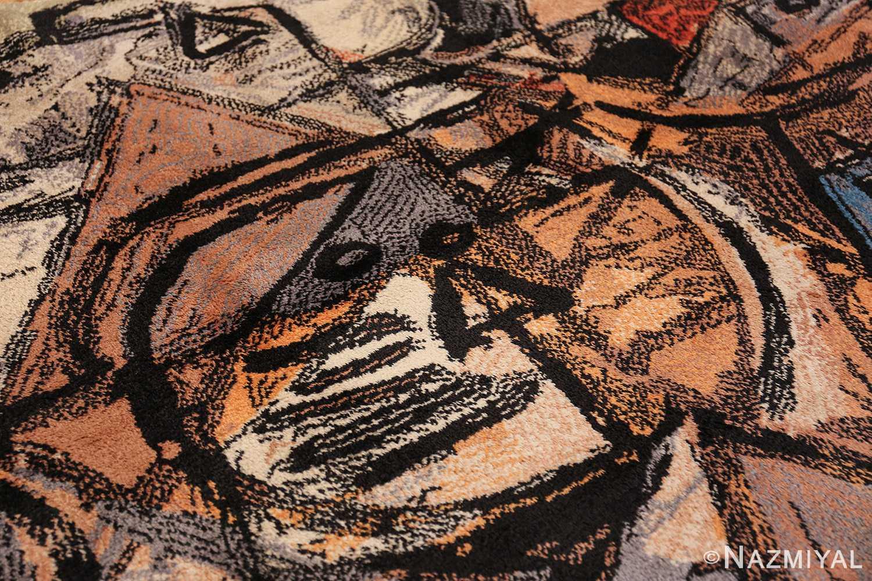 vintage scandinavian rug by corneille 49578 white Nazmiyal