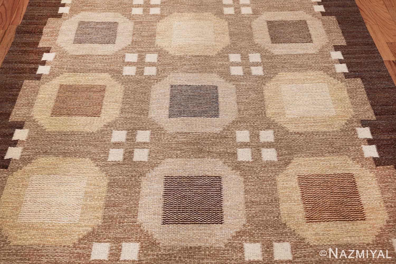 vintage scandinavian swedish kilim rug by rakel callander 49575 field Nazmiyal