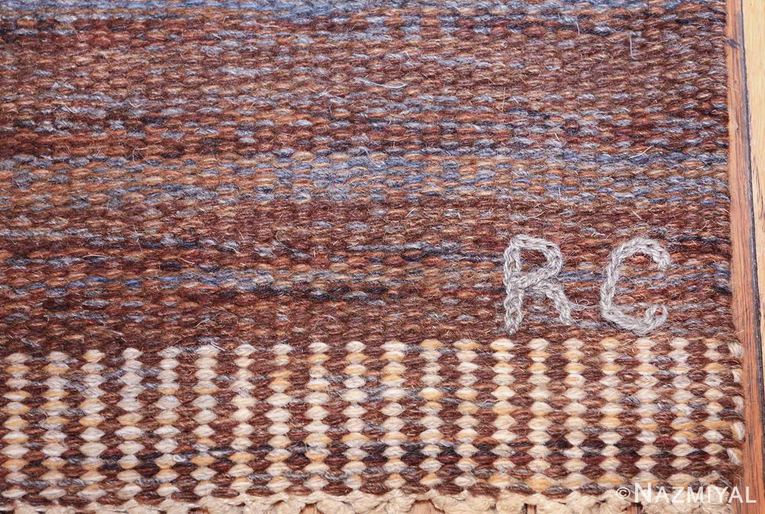 vintage scandinavian swedish kilim rug by rakel callander 49575 rc Nazmiyal