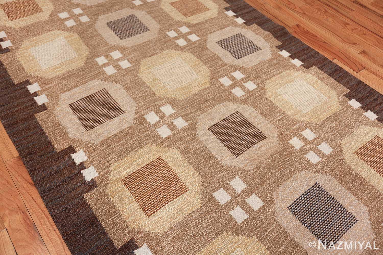 vintage scandinavian swedish kilim rug by rakel callander 49575 side Nazmiyal
