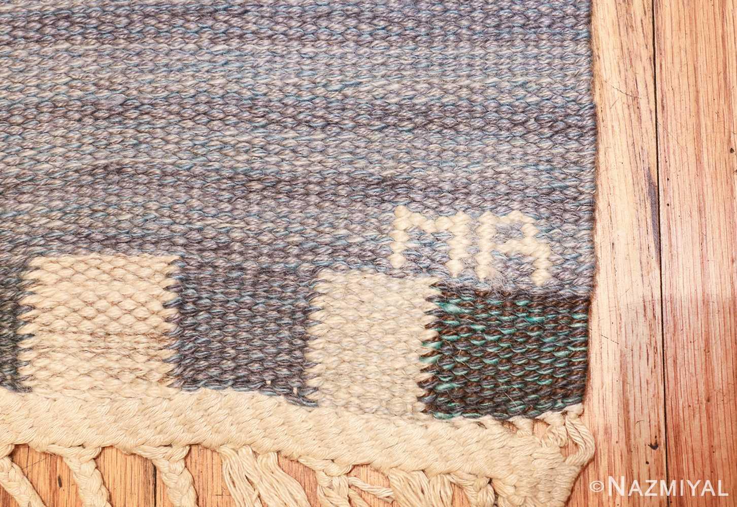 vintage swedish kilim rug by marianne richter for marta maas 49576 mb Nazmiyal