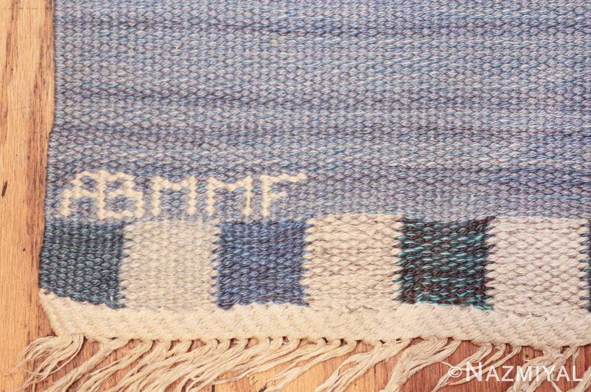vintage swedish kilim rug by marianne richter for marta maas 49576 mmf Nazmiyal