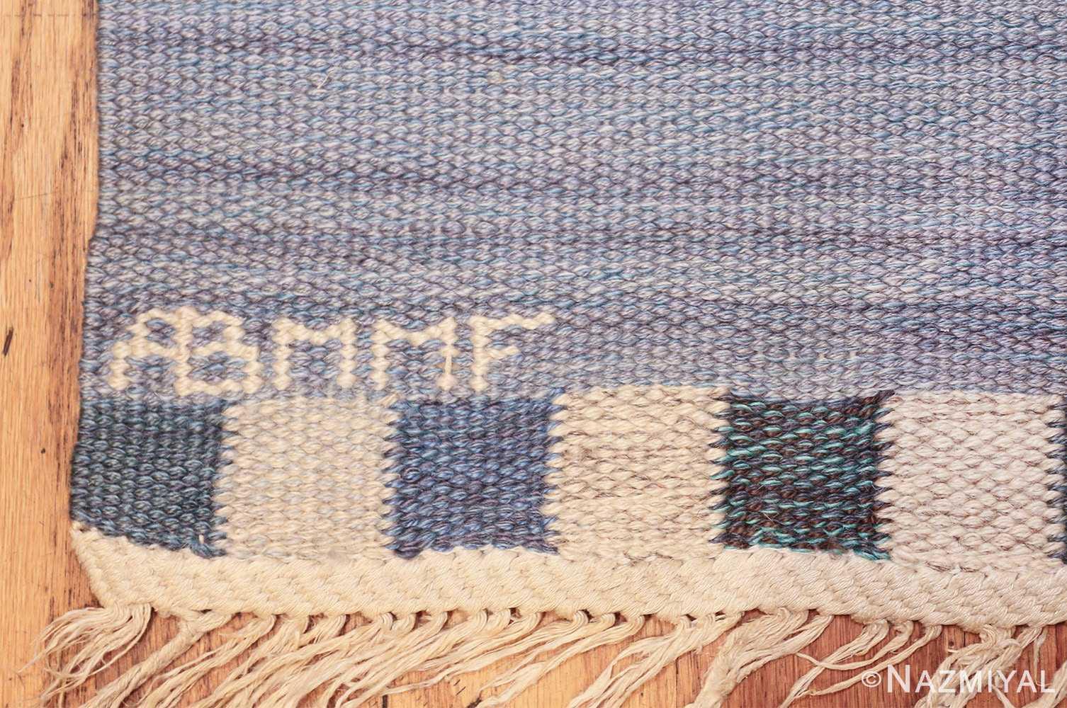 vintage swedish kilim rug by marianne richter for marta maas 49576 mmf Nazmiyal