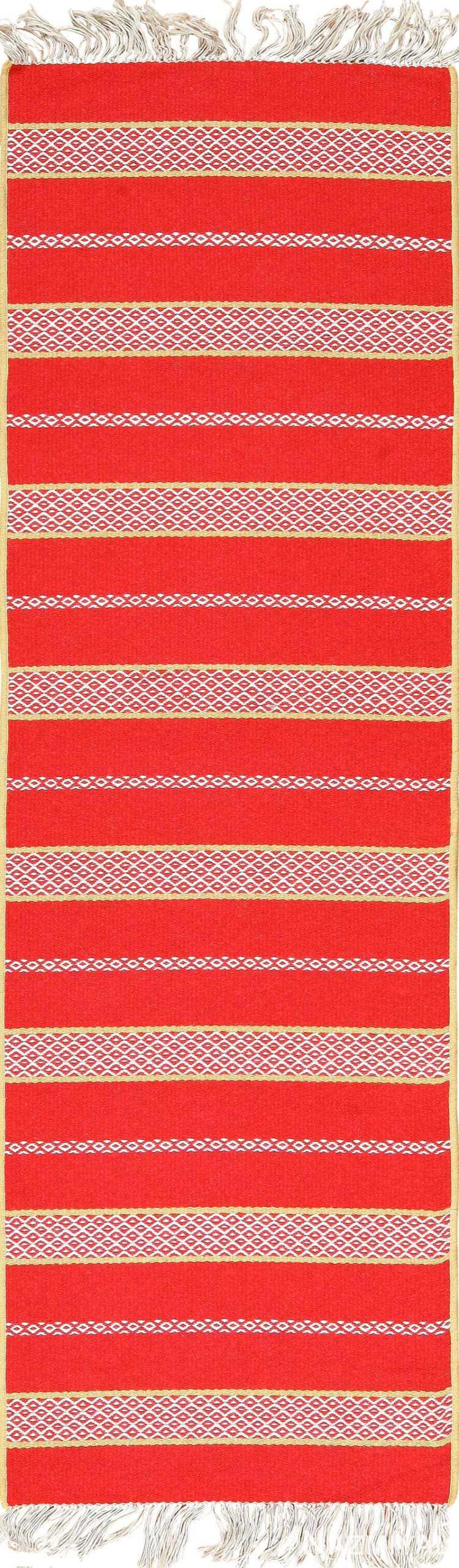 Red Colored Vintage Swedish Scandinavian Runner Rug 49561 by Nazmiyal