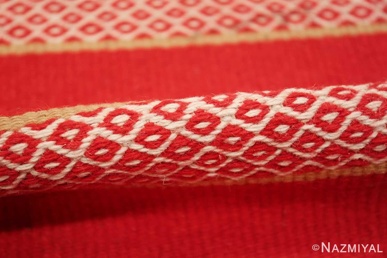 vintage swedish scandinavian runner rug 49561 pile Nazmiyal