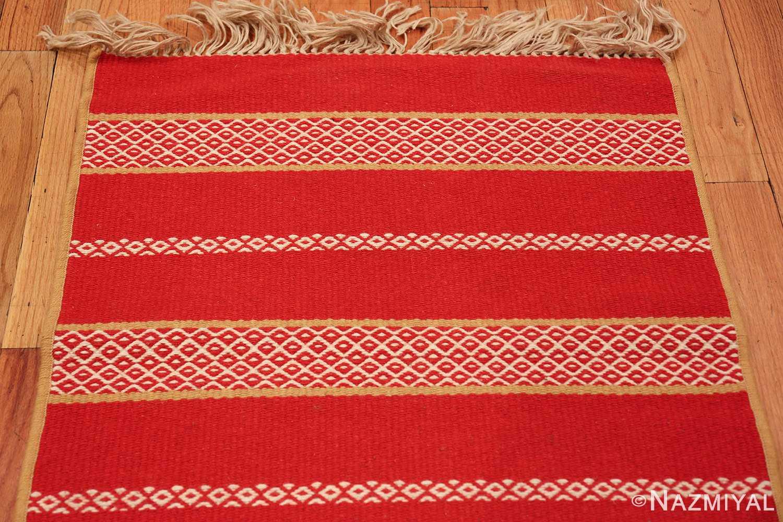 vintage swedish scandinavian runner rug 49561 top Nazmiyal