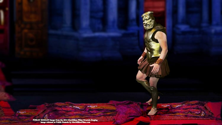 Agamemnon walks on Clytemnestra's Red Carpet by Nazmiyal