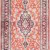 Floral Vintage Persian Silk Qum Runner Rug 49602 by Nazmiyal
