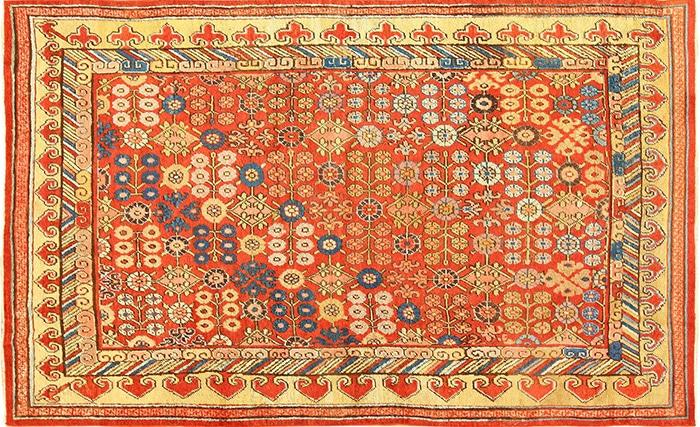 Red Antique Khotan Carpet 49033 by Nazmiyal