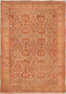 Large Decorative Antique Turkish Oushak Rug 49652 by Nazmiyal
