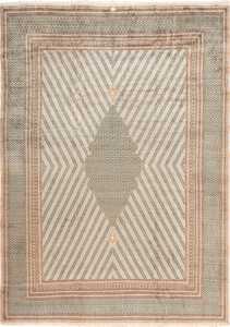 Star Of David Design Luxurious Antique Persian Khorassan Rug 49633 by Nazmiyal
