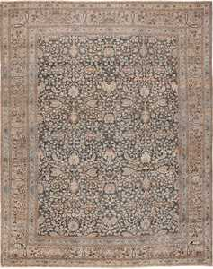 Antique Gray Room Size Persian Khorassan Rug 49655 by Nazmiyal