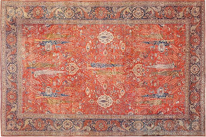 Large Red Antique Persian Tabriz Carpet 49271 by Nazmiyal