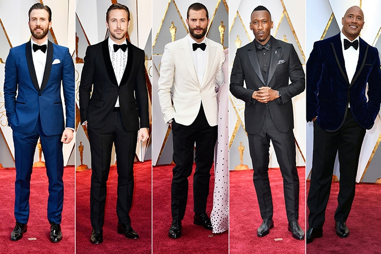 Hollywood Actors Fashion On the Academy Awards Red Carpet by Nazmiyal