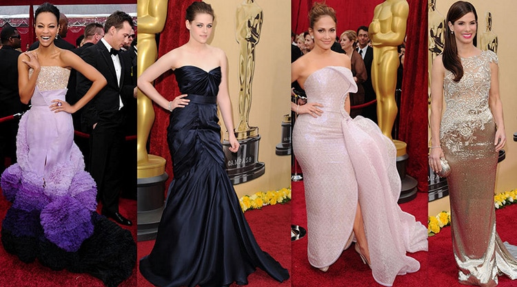Hollywood Actresses Fashion On The Oscars Red Carpet by Nazmiyal