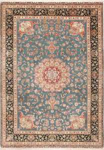 large fine vintage tabriz persian rug 60027 Nazmiyal