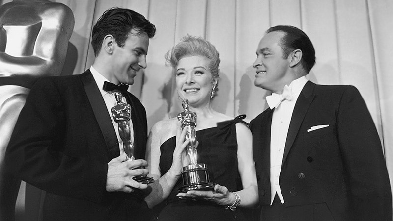 Maximilian Schell, Bob Hope and Greer Garson At Academy Awards / Oscars First Red Carpet In 1961 by Nazmiyal