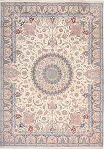 Vintage Silk and Wool Large Nain Persian Rug 60029 by Nazmiyal