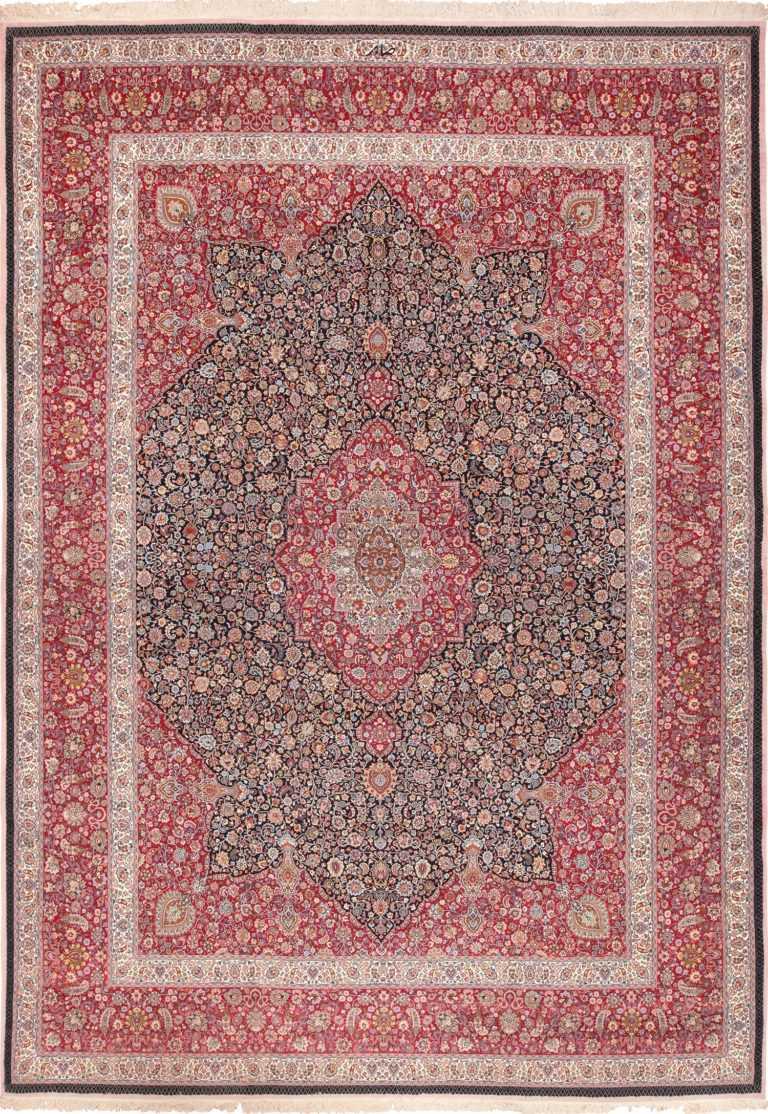 Fine Silk and Wool Saber Vintage Persian Khorassan Rug 60017 by Nazmiyal