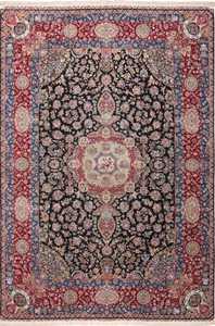 Large Silk and Wool Vintage Tabriz Persian Rug 60020 by Nazmiyal