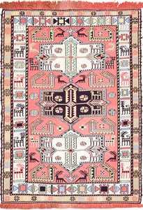 Small Size Tribal Vintage Silk Caucasian Soumak 49608 by Nazmiyal