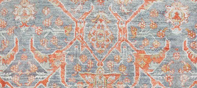 Turkish Antique Angora Oushak Rug by Nazmiyal