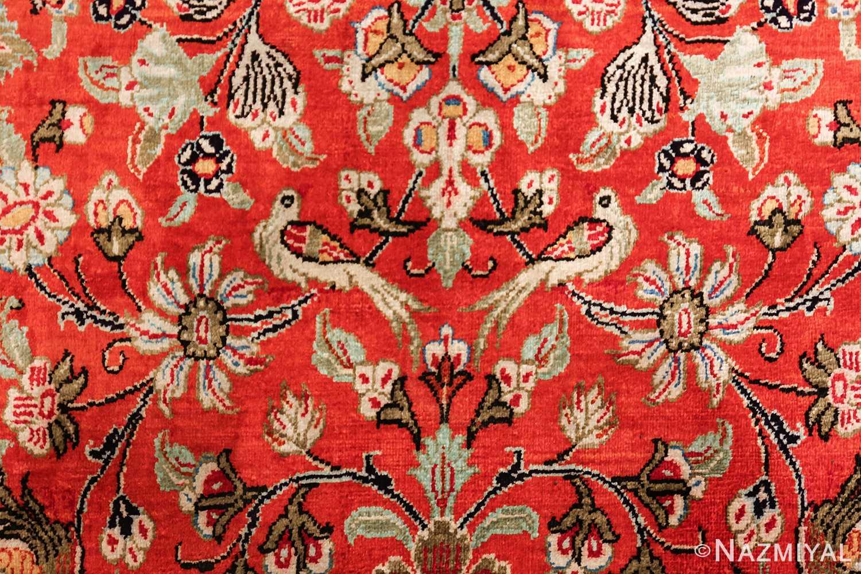 animal motif silk vintage qum persian runner rug 49602 couple Nazmiyal