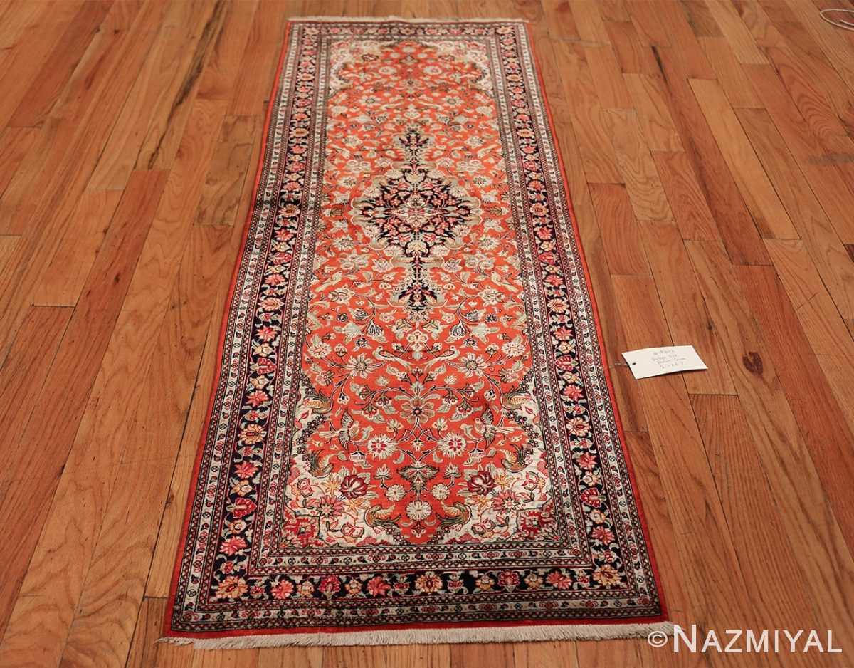 animal motif silk vintage qum persian runner rug 49602 whole Nazmiyal