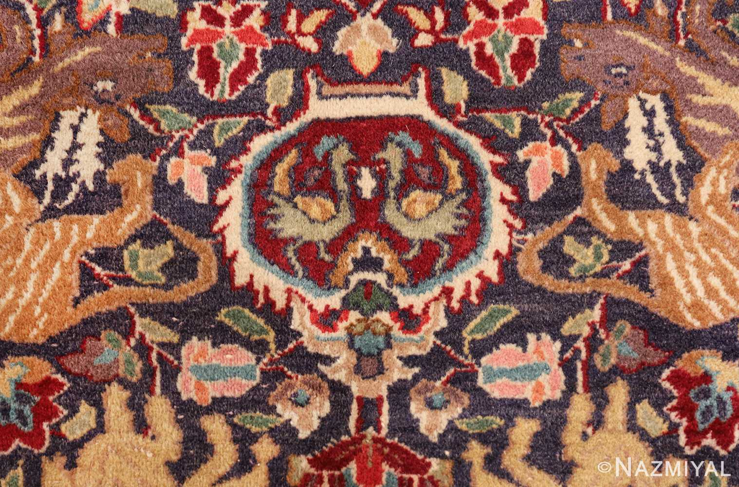 antique animal motif agra indian rug 49623 bird Nazmiyal