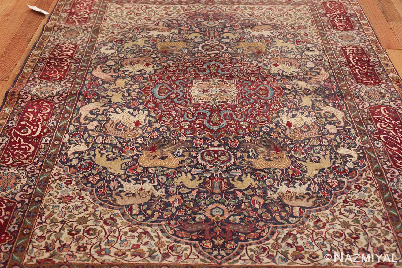 antique animal motif agra indian rug 49623 field Nazmiyal