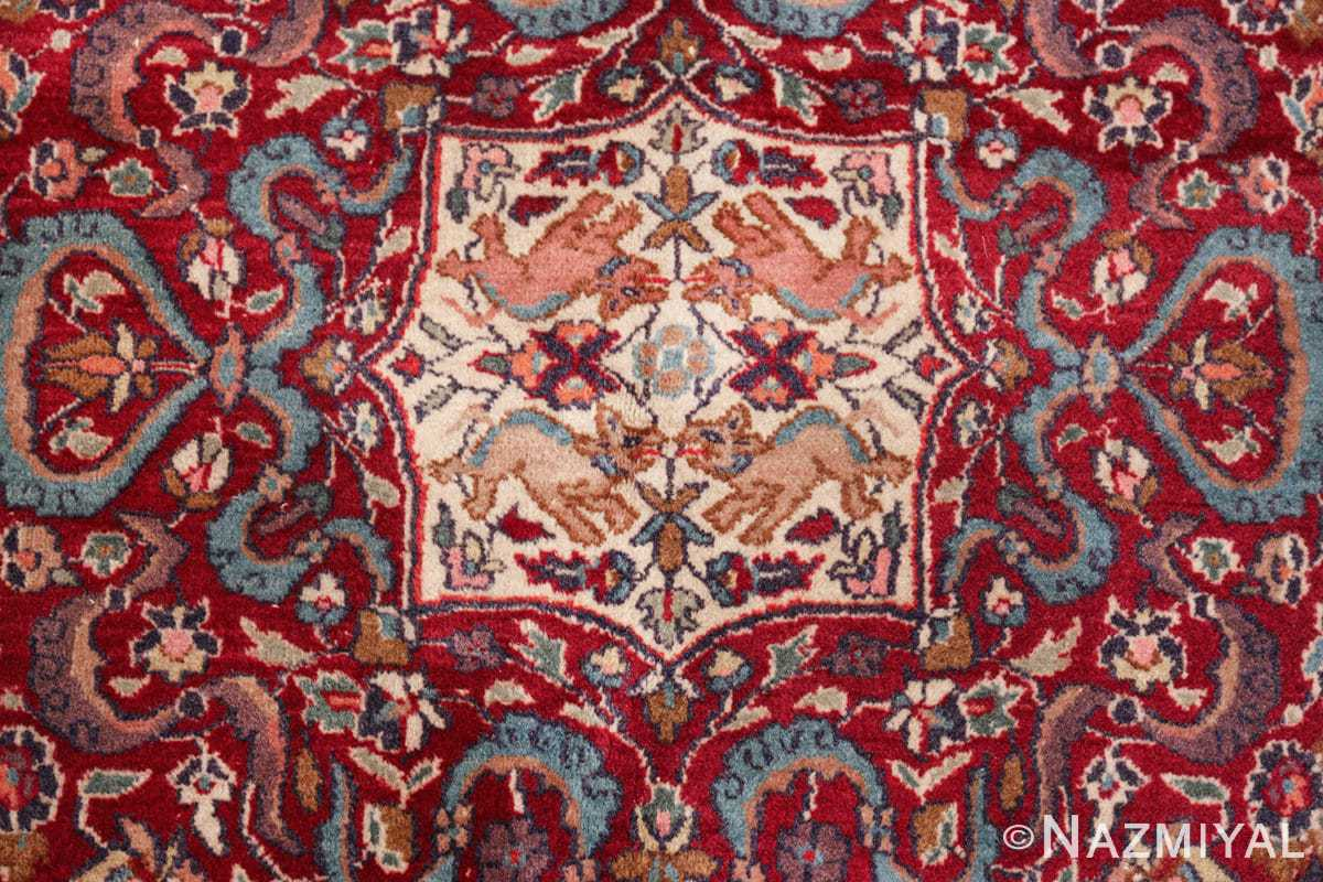 antique animal motif agra indian rug 49623 middle Nazmiyal
