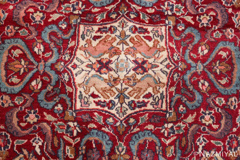 antique animal motif agra indian rug 49623 middle Nazmiyal