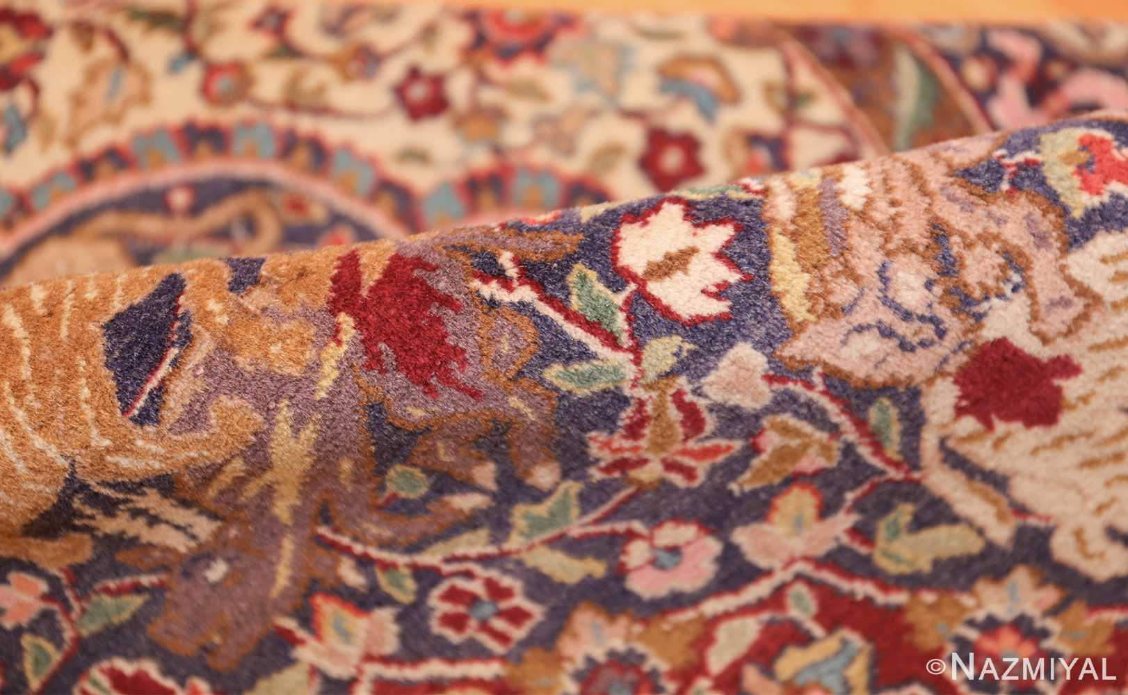 antique animal motif agra indian rug 49623 pile Nazmiyal
