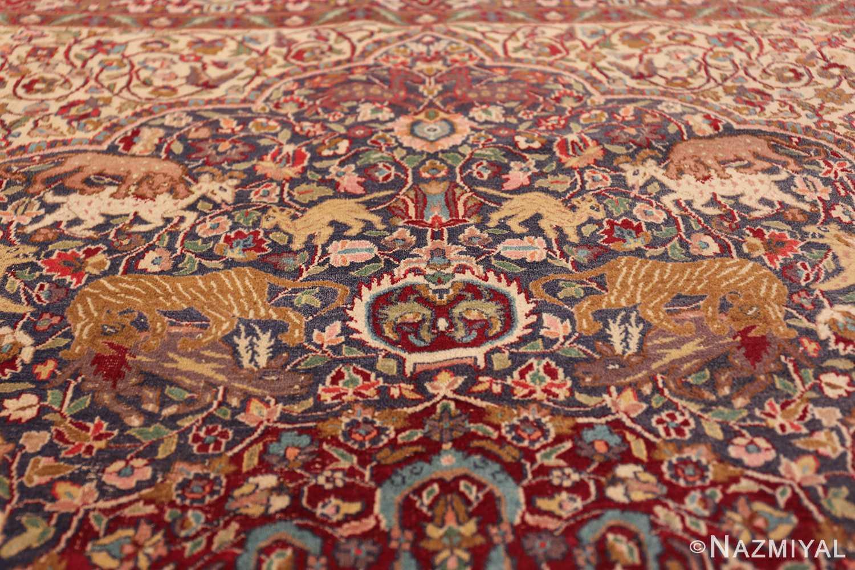 antique animal motif agra indian rug 49623 tiara Nazmiyal