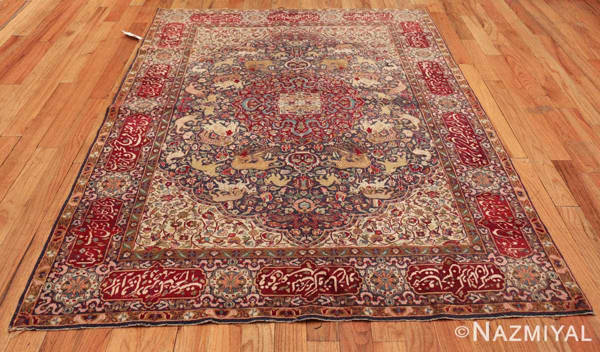 antique animal motif agra indian rug 49623 whole Nazmiyal