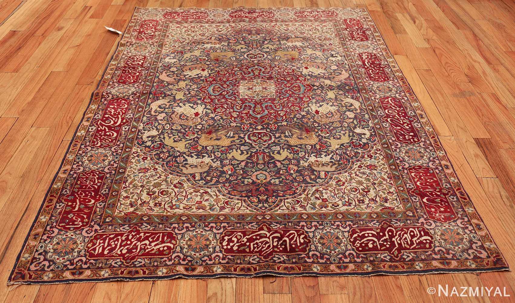 antique animal motif agra indian rug 49623 whole Nazmiyal