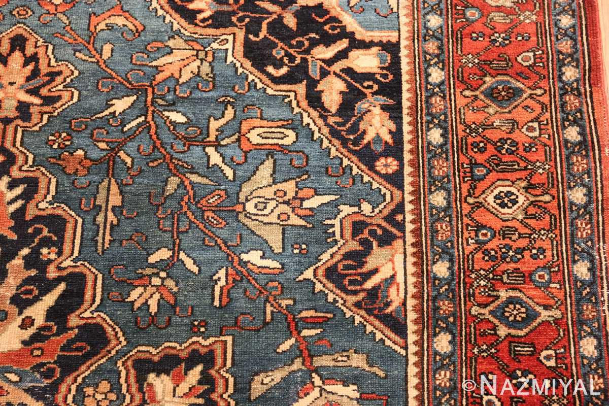 antique blue background malayer persian rug 49650 branch Nazmiyal