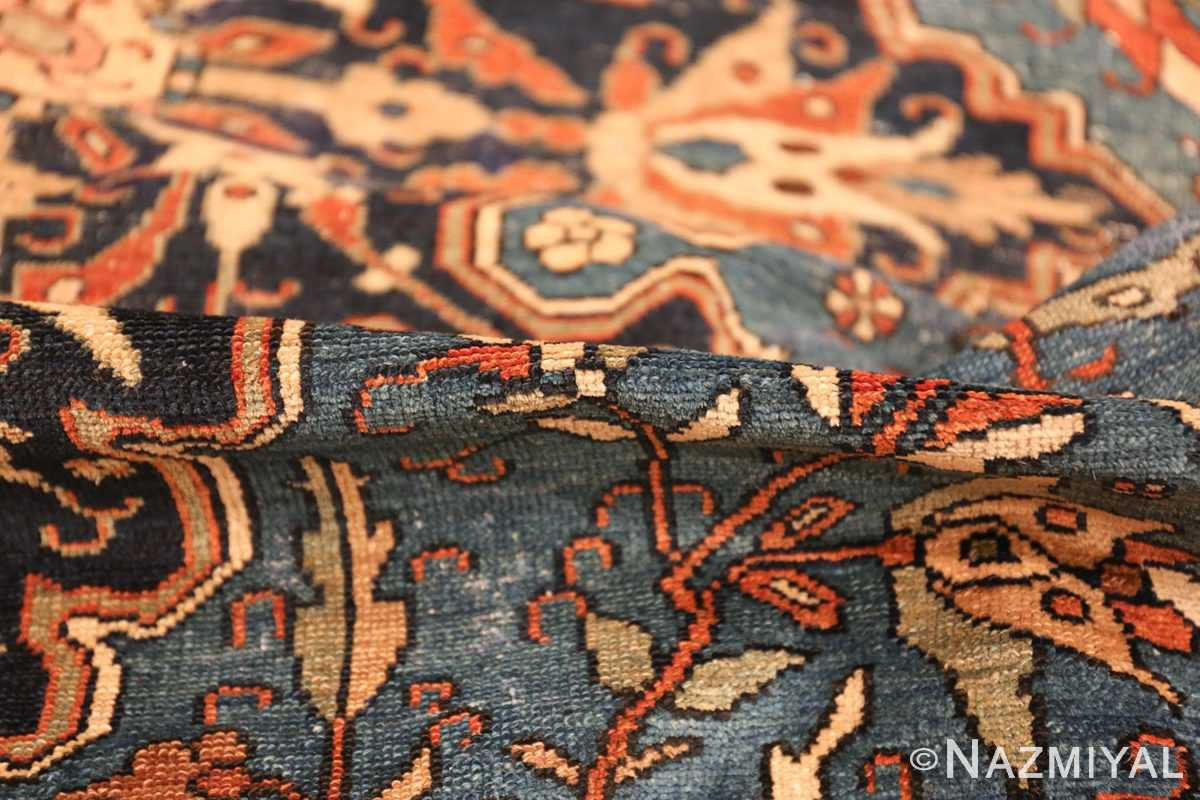 antique blue background malayer persian rug 49650 pile Nazmiyal