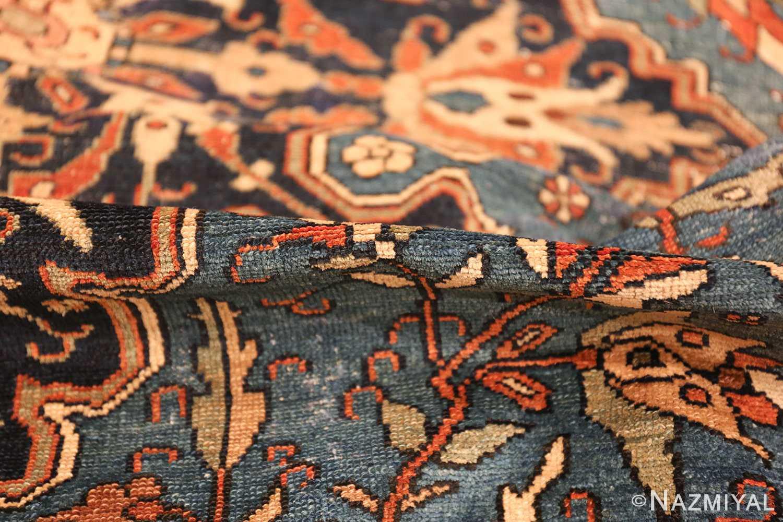 antique blue background malayer persian rug 49650 pile Nazmiyal